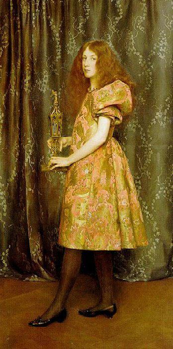 Томас Купер Готч. Девушка в золотистом платье