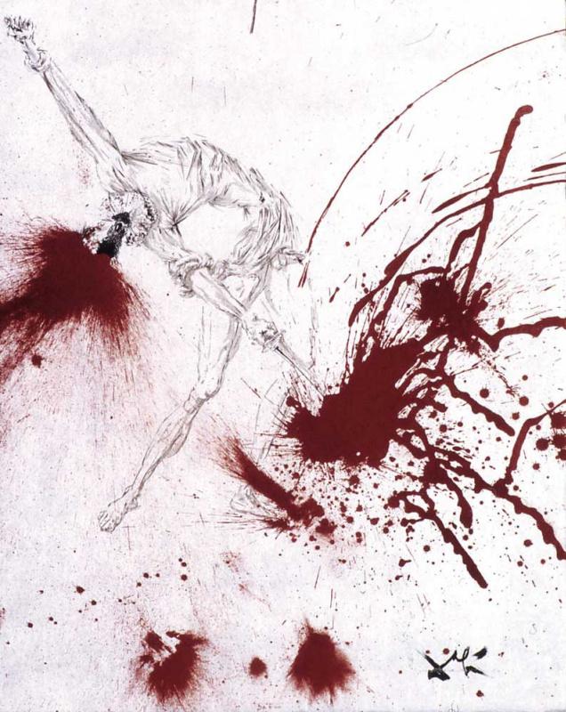 """Salvador Dali. Wine barrel (illustration for the novel """"don Quixote"""")"""