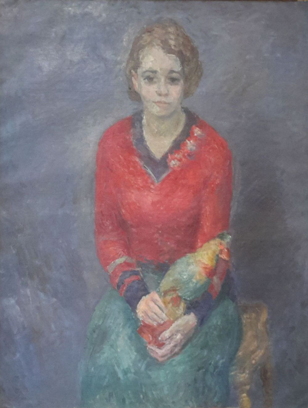 Robert Rafailovich Falk. Girl with a parrot