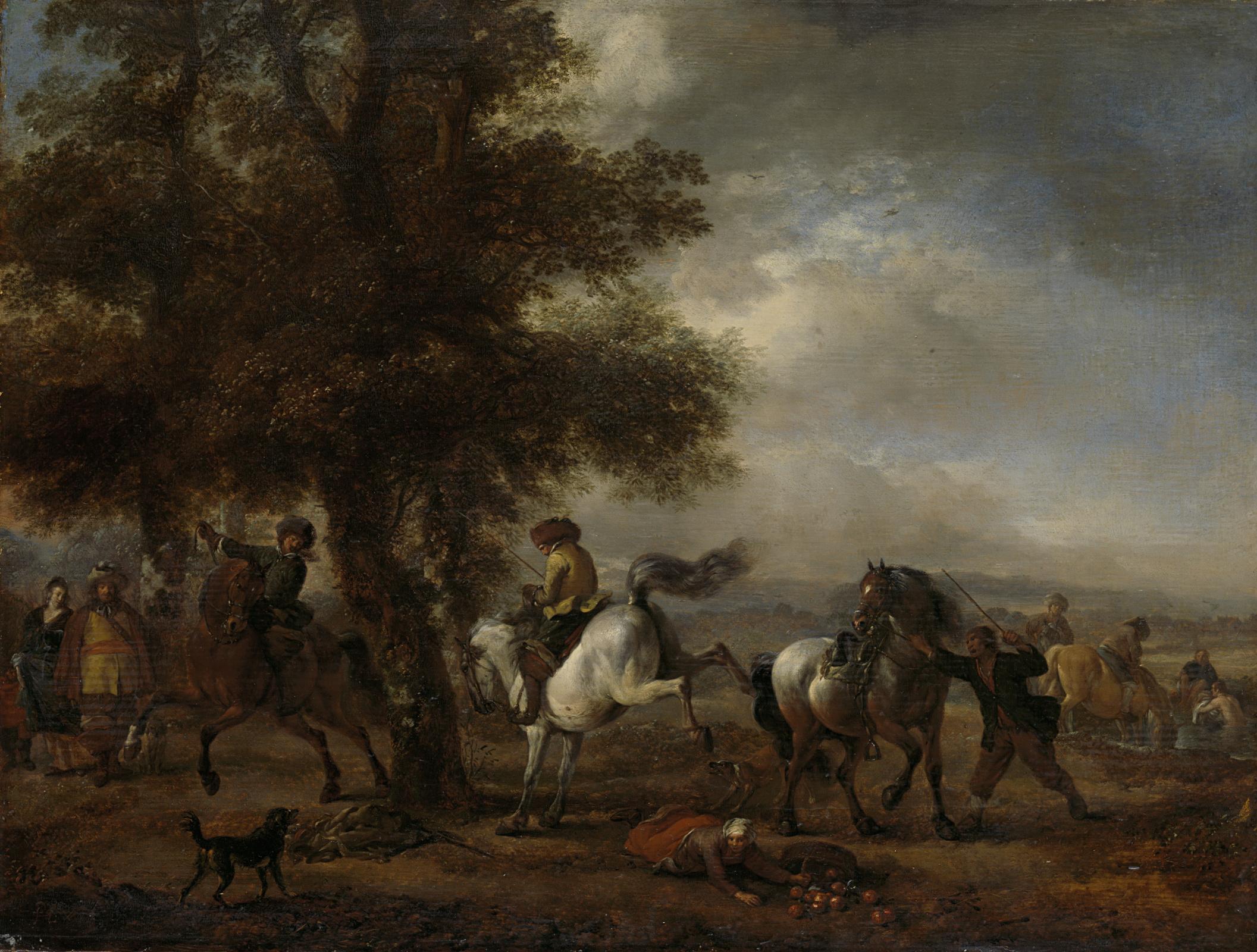 Филипс Вауверман (Воуверман). Удар белой лошади