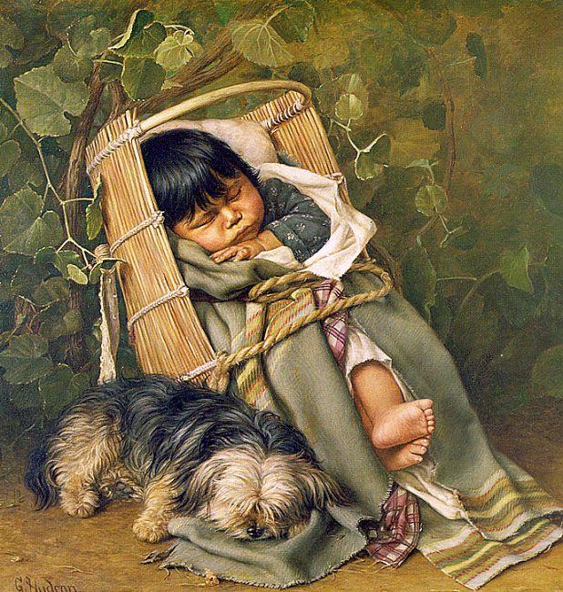 Грейс Карпентер Хадсон. Ребенок и собака