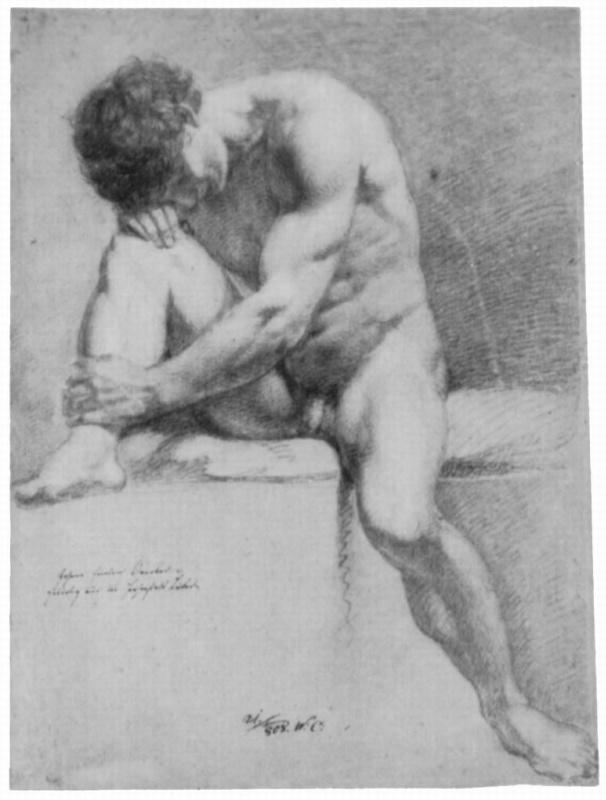 Иоганн Фридрих Овербек. Сидящий обнаженный