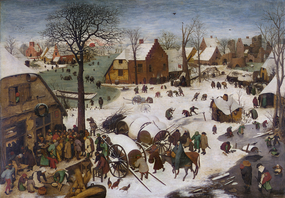 Pieter Bruegel The Elder. The census at Bethlehem