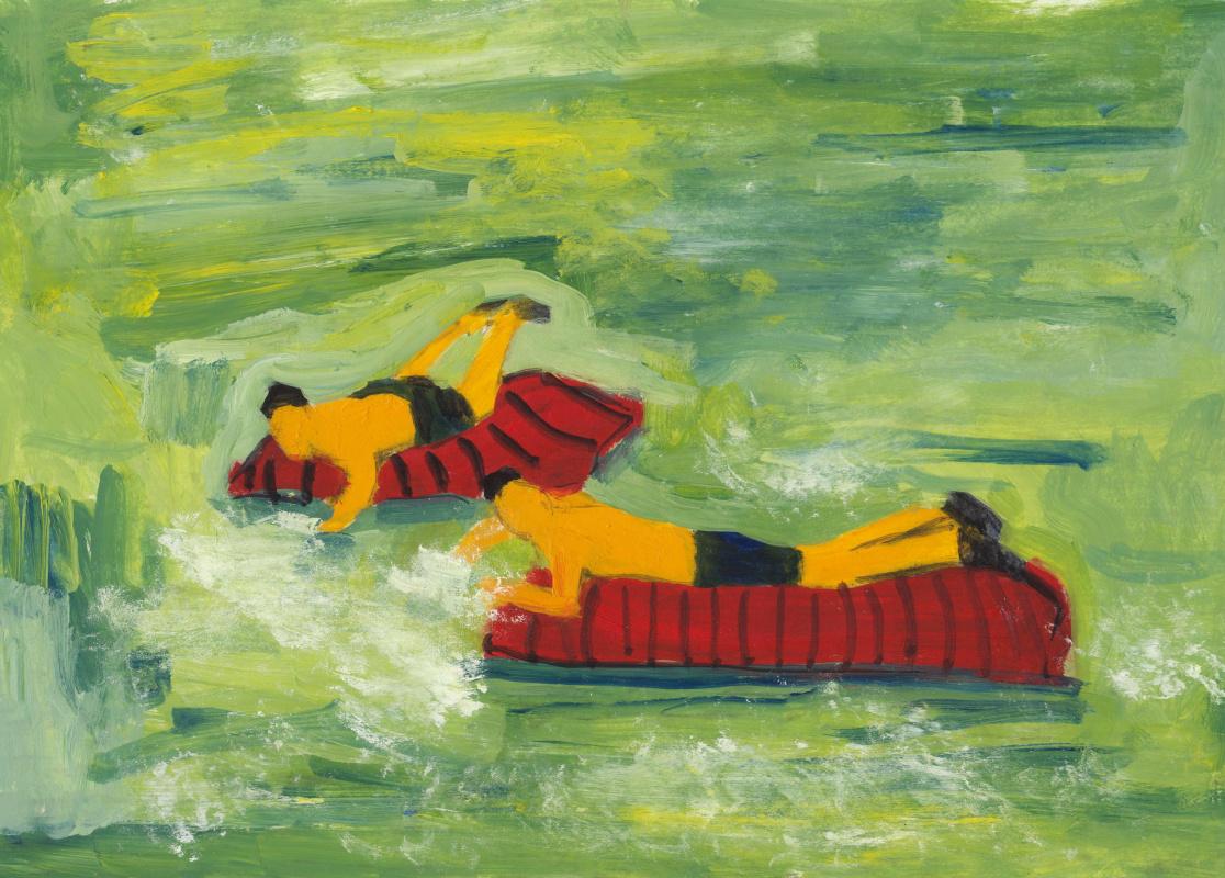 Nickie Zimov. Waterfalling