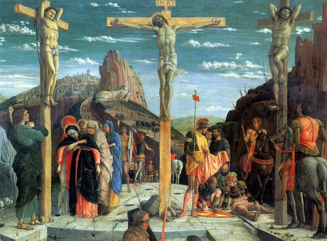 Andrea Mantegna. The crucifixion