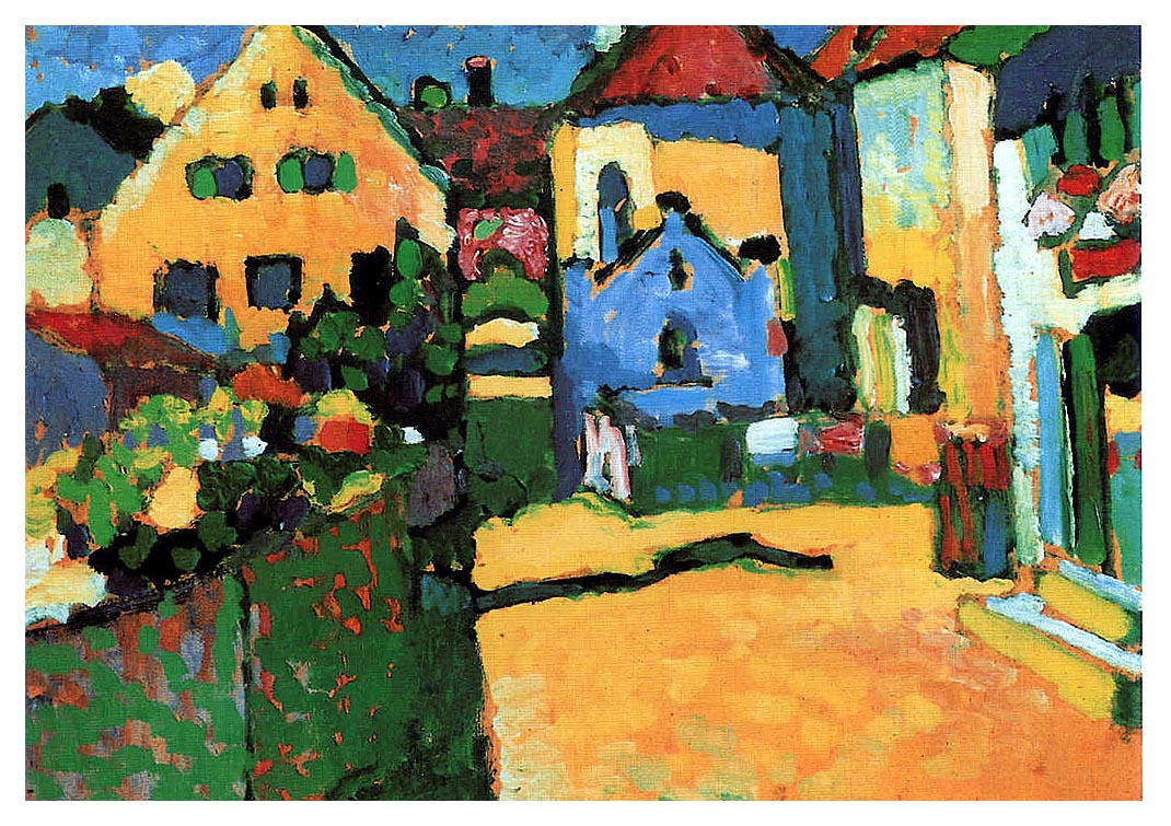 Wassily Kandinsky. Green street in Murnau