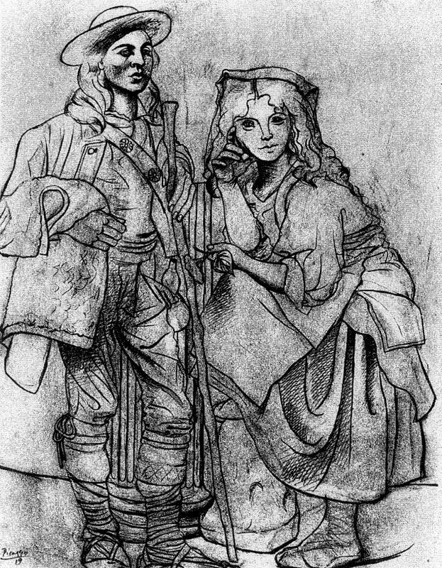 Пабло Пикассо. Молодой человек и девушка