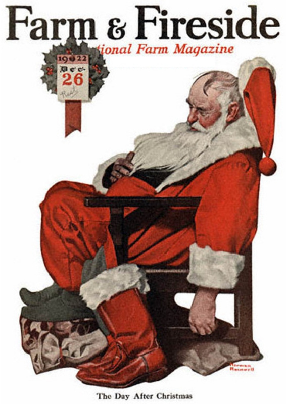 Norman Rockwell. The day after Christmas