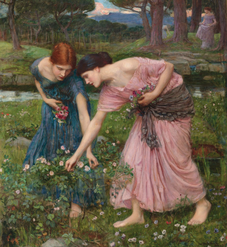 John William Waterhouse. Pluck roses as soon as possible