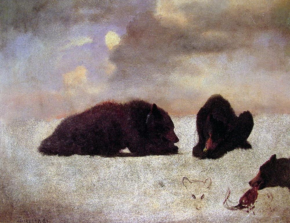 Альберт Бирштадт. Медведи гризли