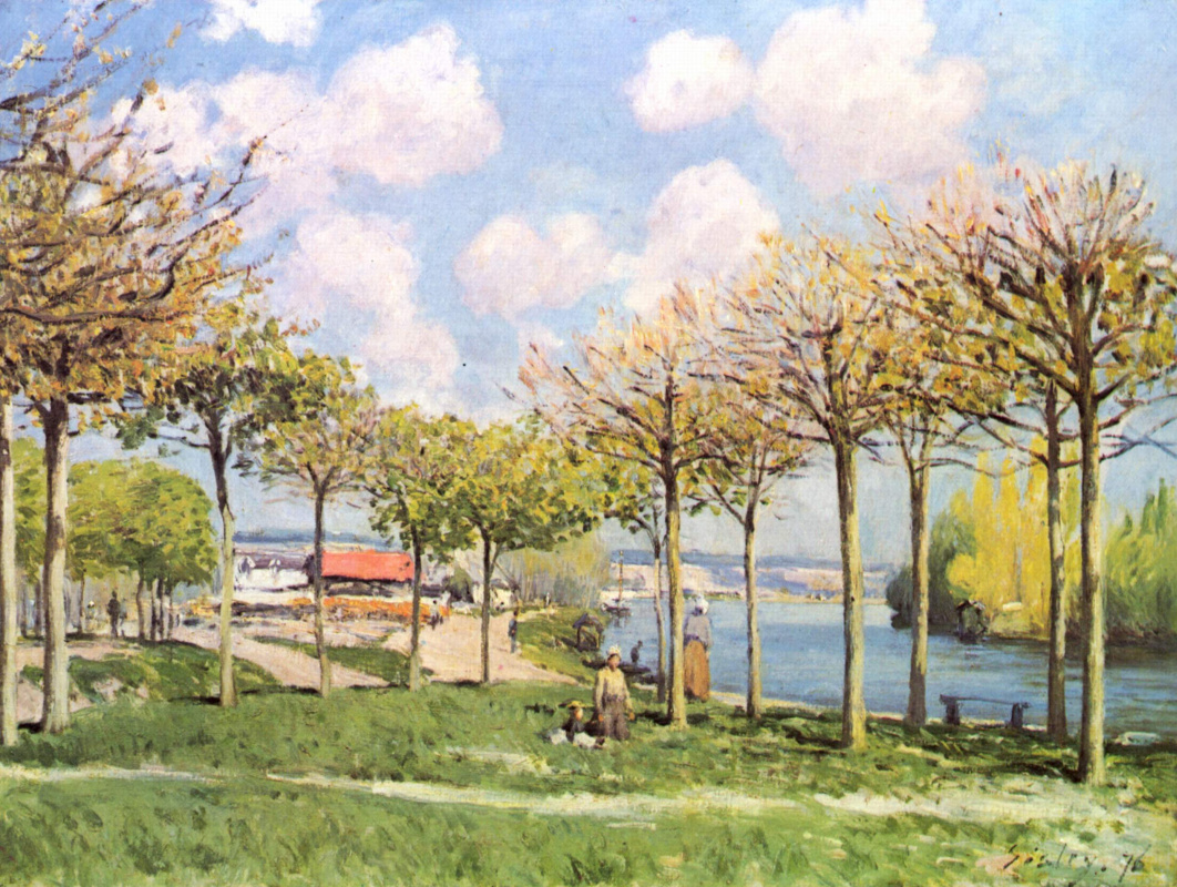 Alfred Sisley. The Seine near Bougival