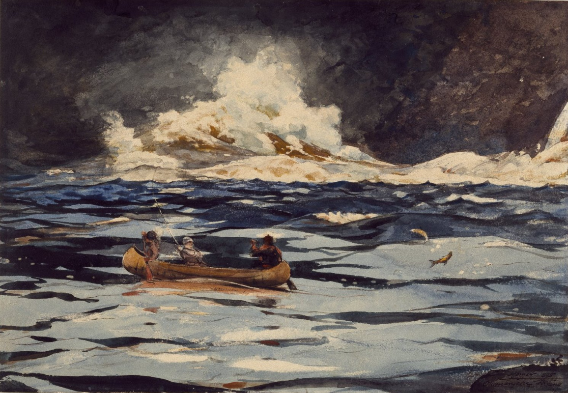 Winslow Homer. At the waterfall