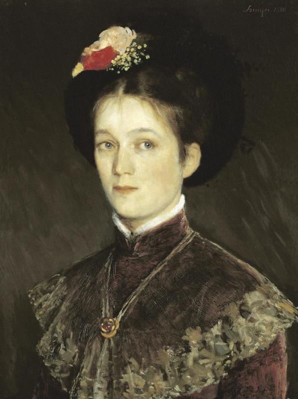 Пал Синьеи-Мерше. Портрет жены художника