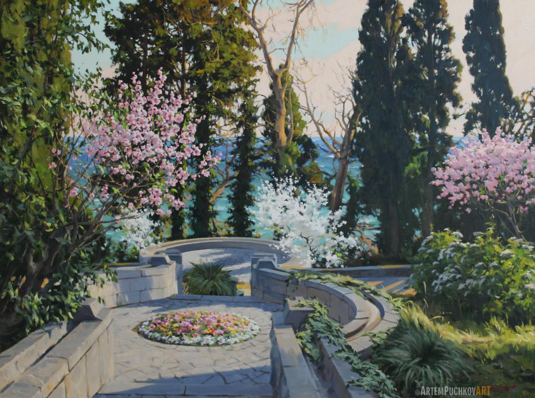 "Артём Юрьевич Пучков. ""Spring in the Vorontsovsky Park. Alupka""."