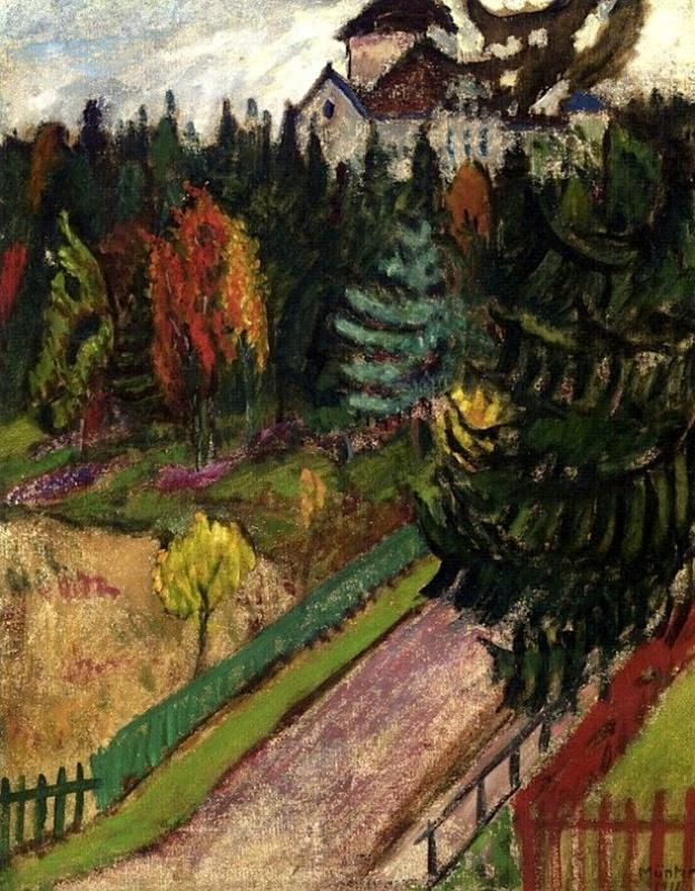Gabriele Münter. Stockholm landscape