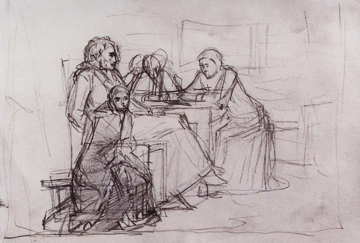 Vasily Ivanovich Surikov. Menshikov in Berezov. A sketch of the composition