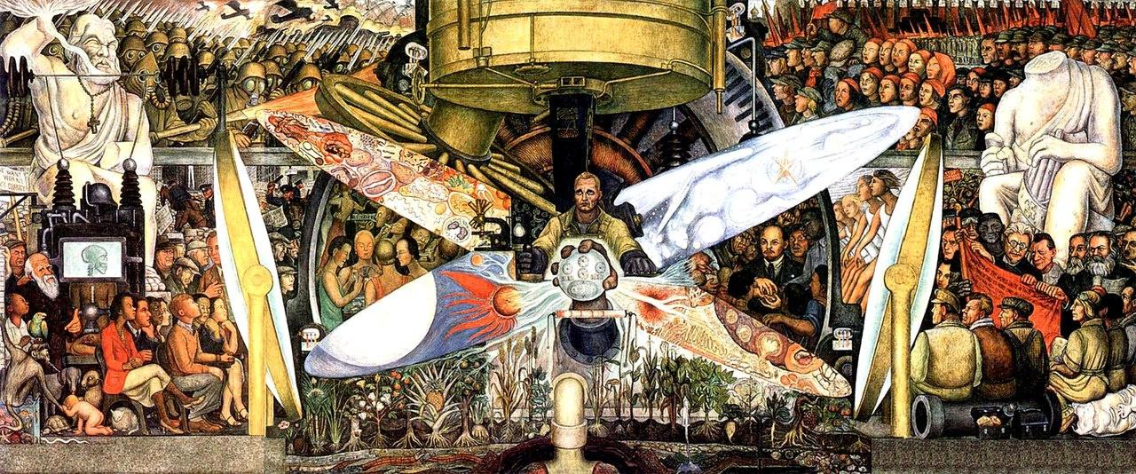 Diego Maria Rivera. Man at the crossroads