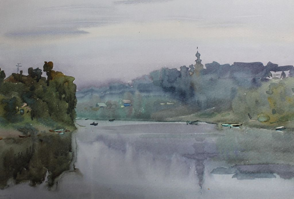 Sergey Kuzmich Frolov. On the river Tvertsa