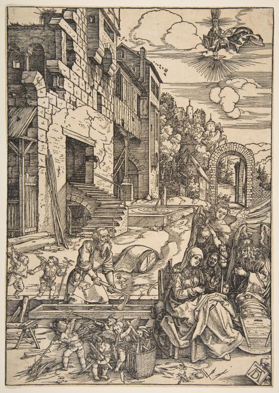 Albrecht Durer. The Holy family in Egypt
