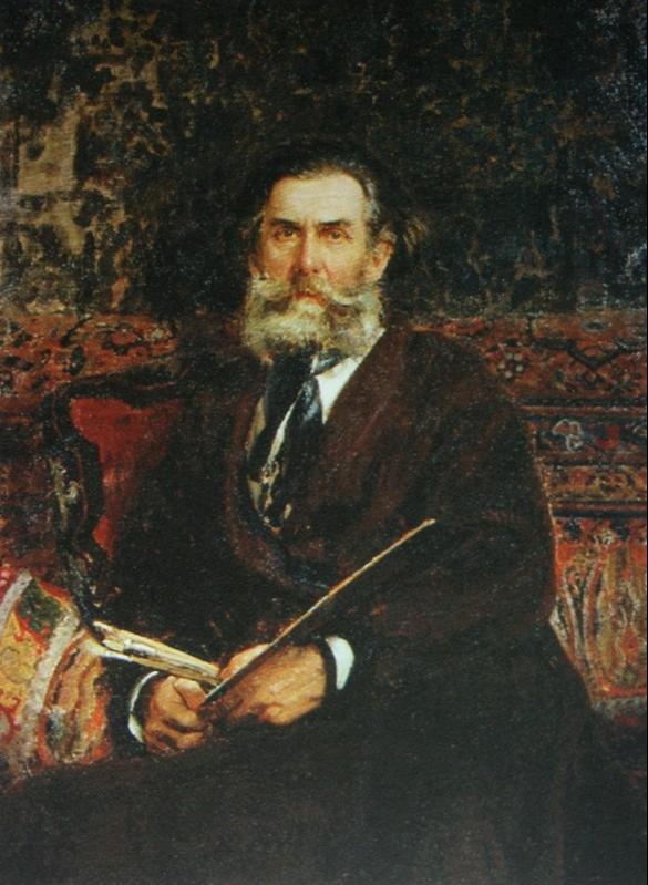 Ilya Efimovich Repin. Portrait of the artist A.P. Bogolyubov. Saratov State Art Museum.