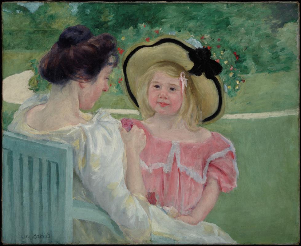 Mary Cassatt. In the garden