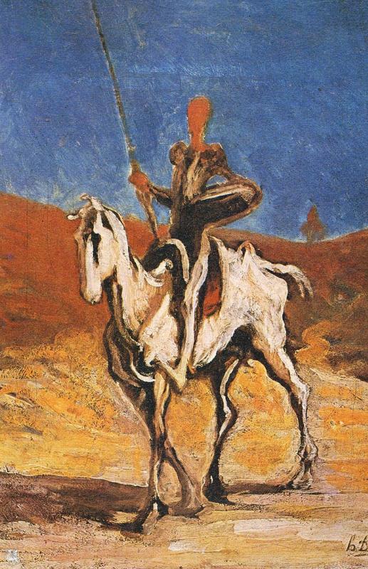 Honore Daumier. Don Quixote