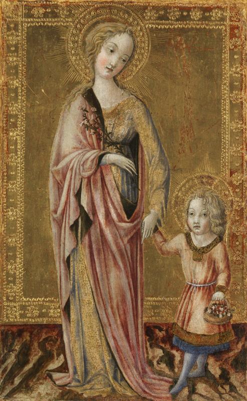Франческо ди Джорджио Мартини. Святая Дороти и младенц Христос