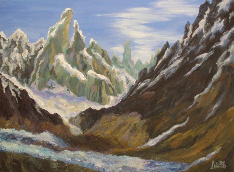 Larissa Lukaneva. Snow-capped mountains