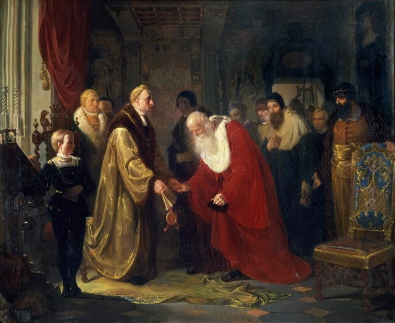 Jan Matejko. Zygmunt I assigns the status and titles to the professors of the Jagiellonian University in 1535