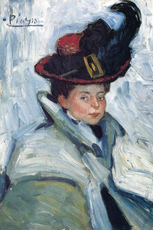 Пабло Пикассо. Женщина в пелерине