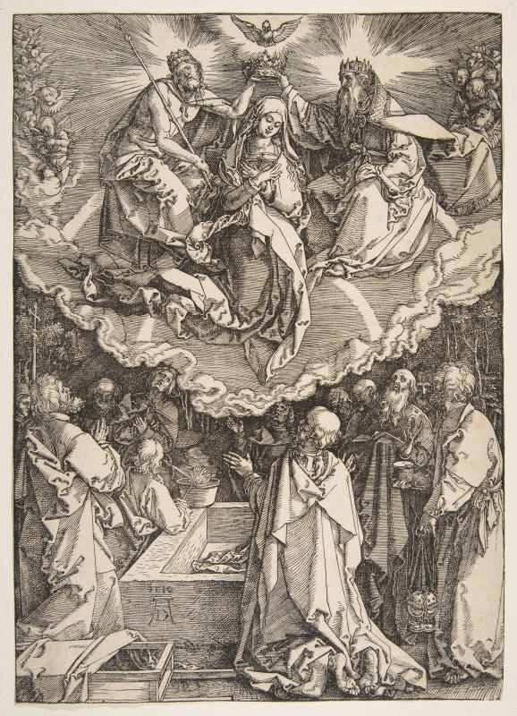 Albrecht Dürer. The assumption and coronation of the virgin