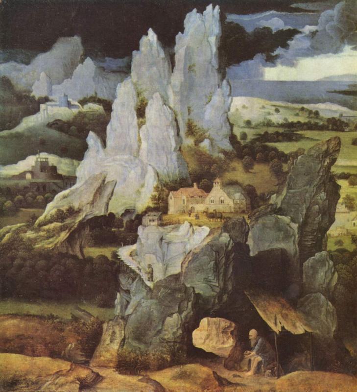 Скалистый пейзаж со св. Иеронимом