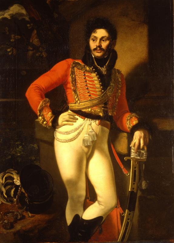 Orest Adamovich Kiprensky. Portrait of Life Hussar Colonel Evgraf Vasilyevich Davydov