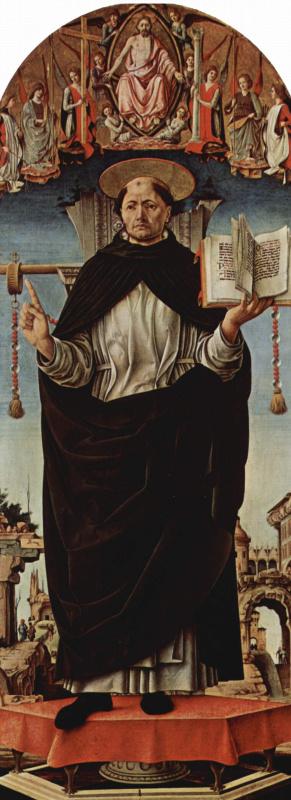 Франческо дель Косса. Алтарь Гриффони, первоначально Капелла Гриффони в церкви Сан Петронио в Болонье, центральная часть: св. Винсент Феррарский