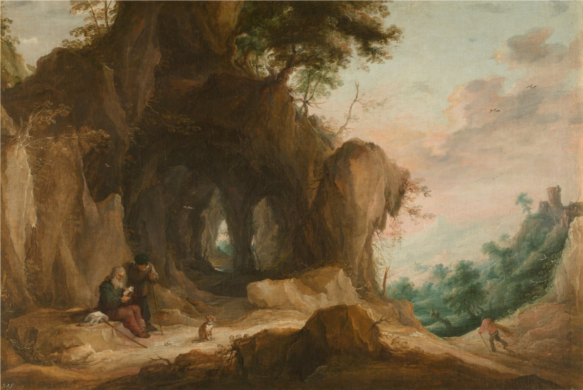 David Teniers the Younger. Landscape with a hermit