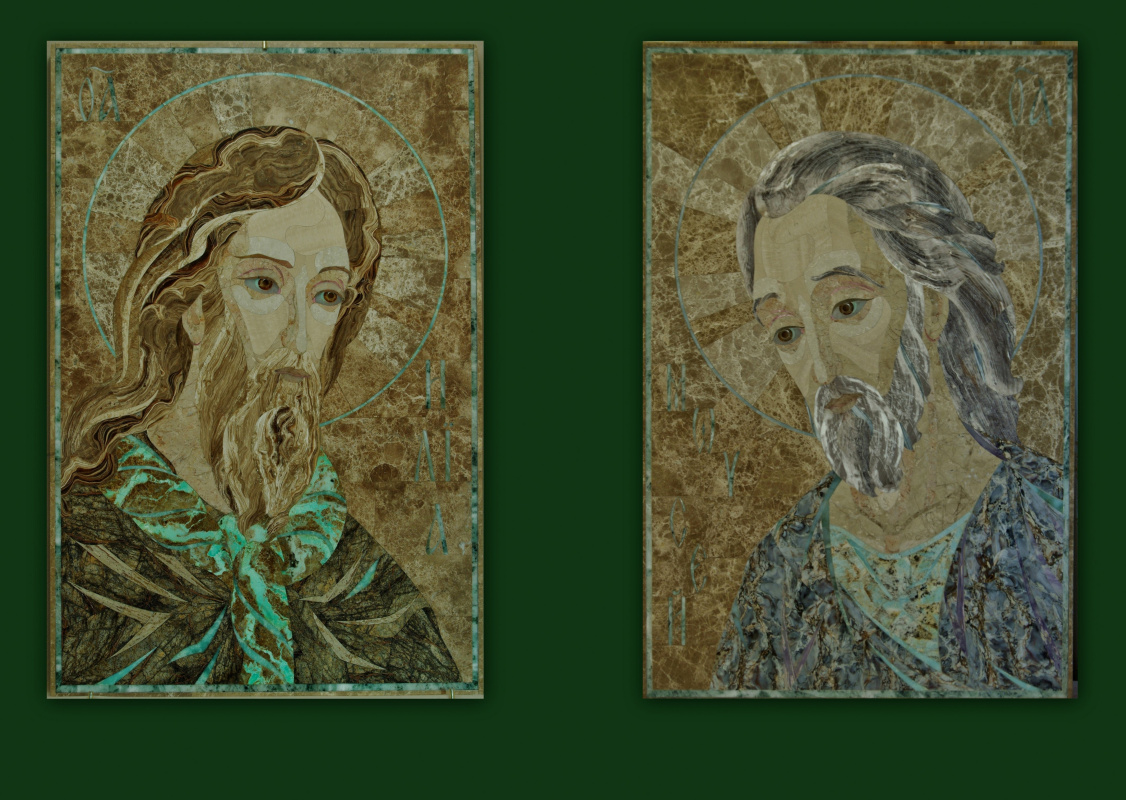 """Aleksei Zagorskij. Prophets """"Elijah"""" and """"Moses"""" diptych"""