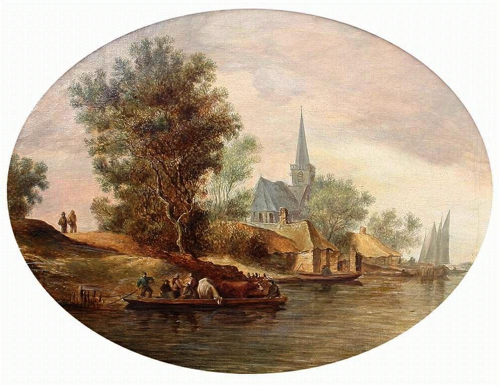 Jan van Goyen. Ferry