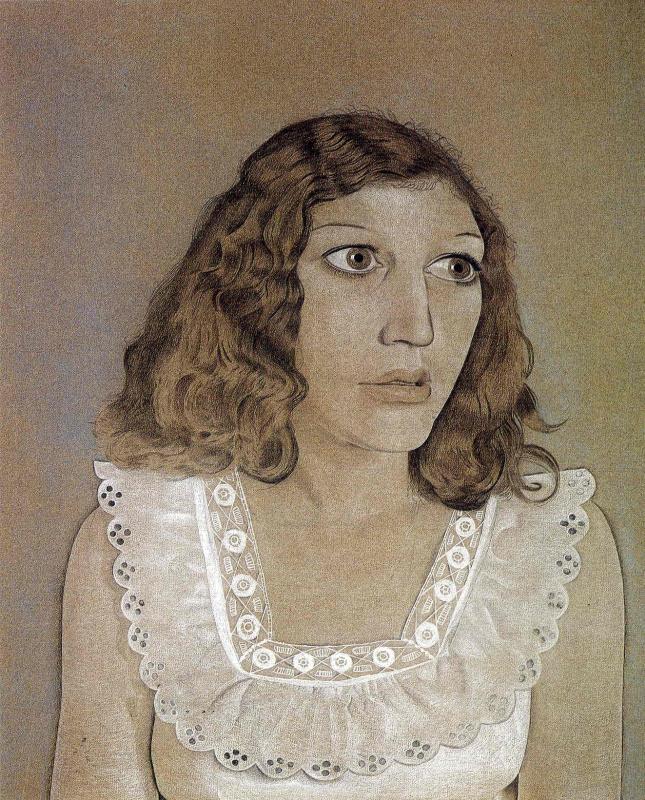 Люсьен Фрейд. Девушка в белом платье
