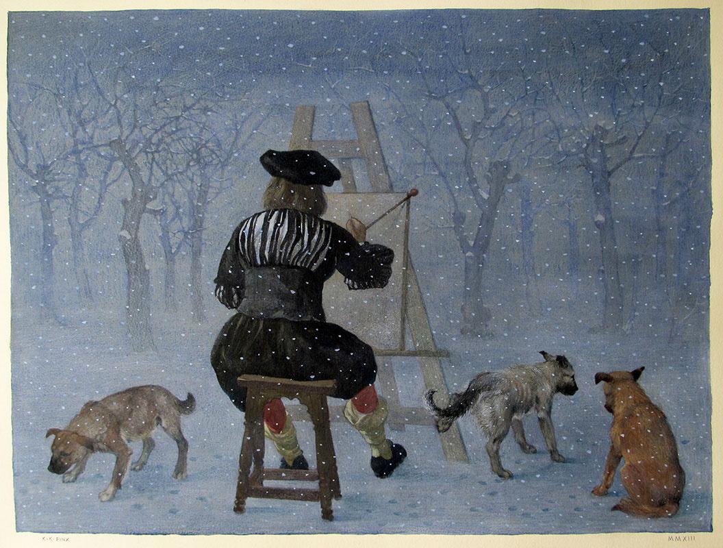 Константин Калинович. Вермеер в снегу II