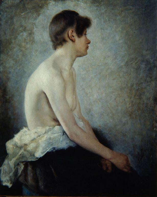 Anton Azhbe. Seated Nude