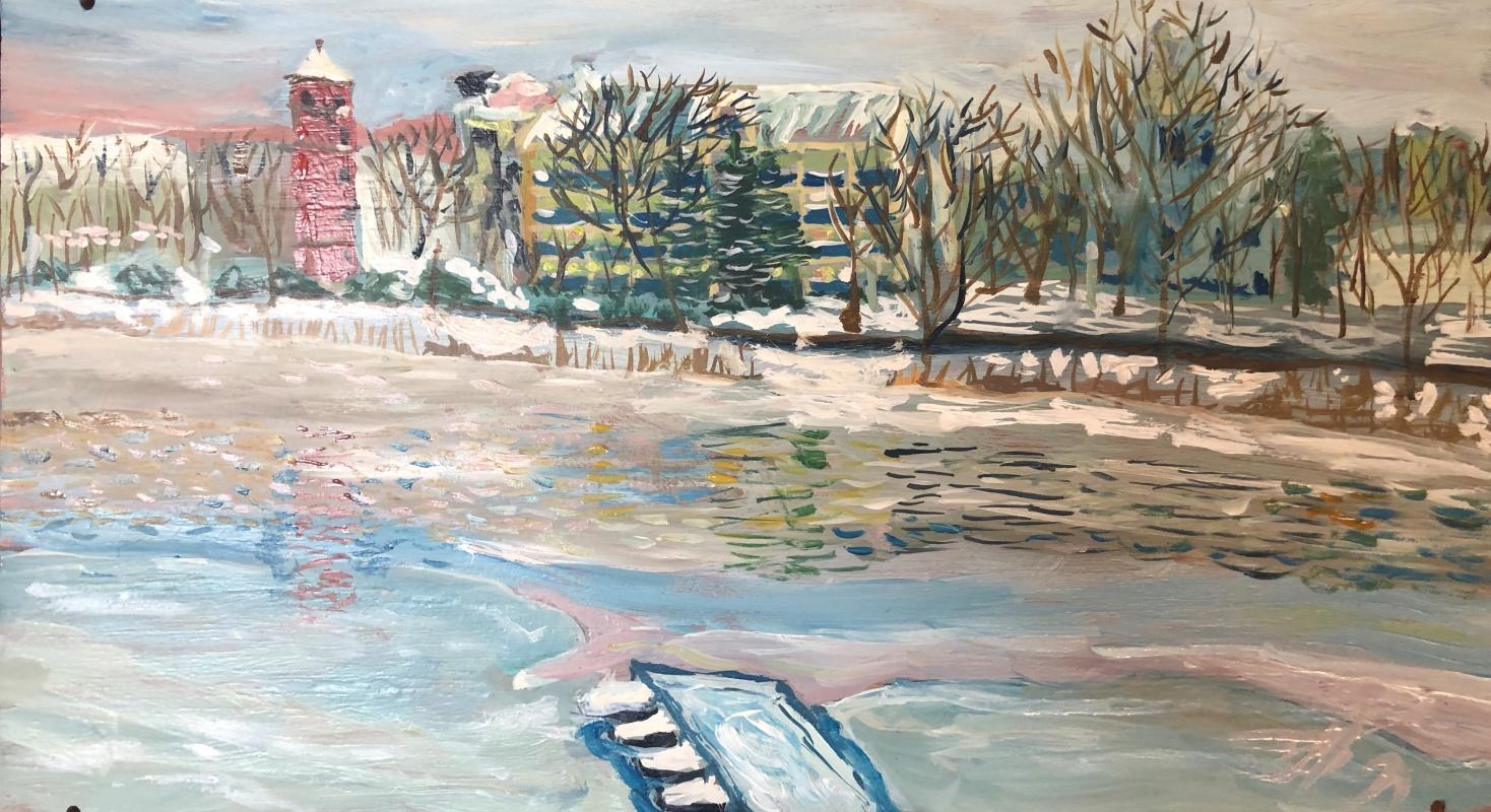 Sergey Vladimirovich Sebini. Mirgorod. Resort embankment. Winter.