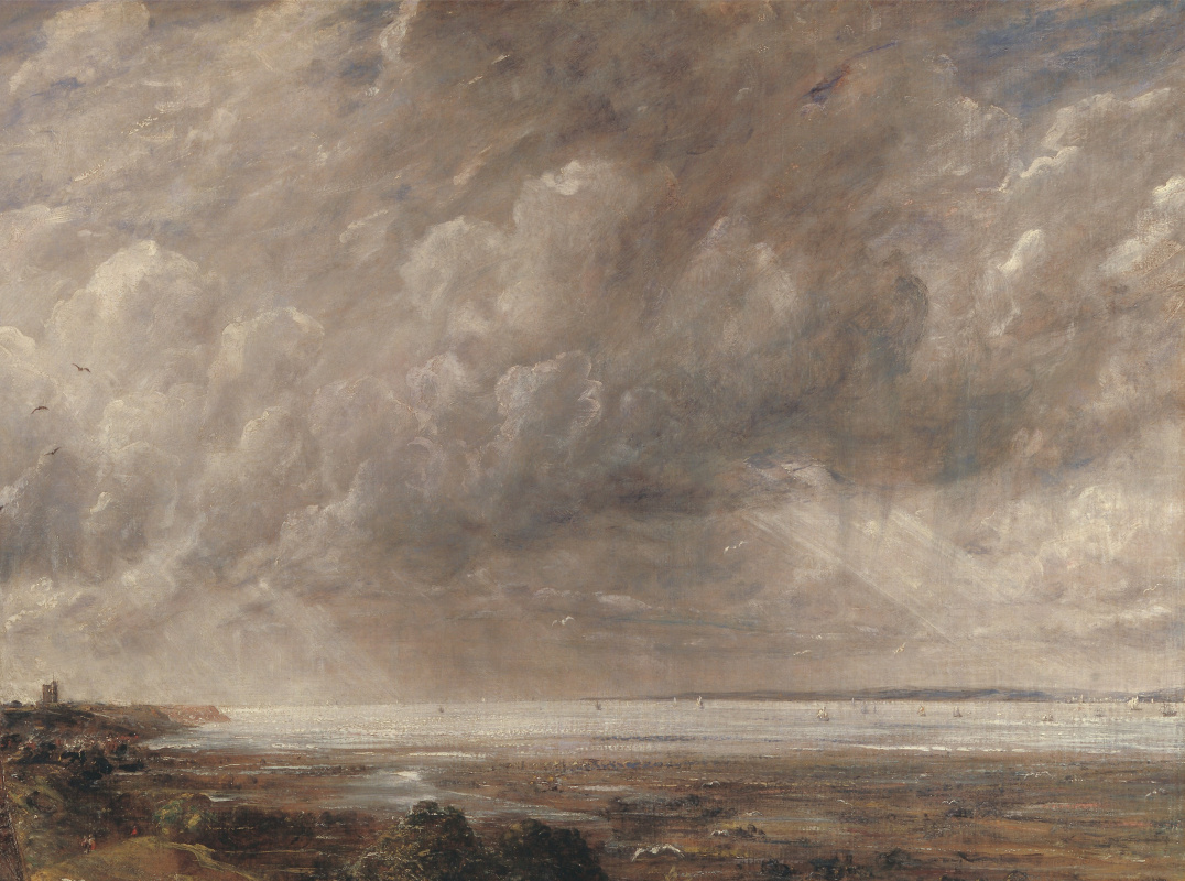 John Constable. Castle Hadley, the Thames estuary. The morning after a night storm. Fragment: the coast