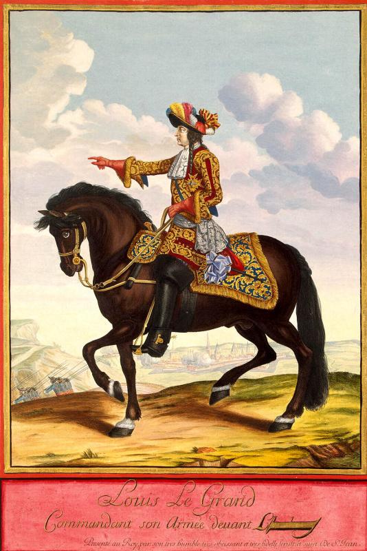 Жан де Сен-Жан. Конный портрет Людовика XIV в сражении при Камбре