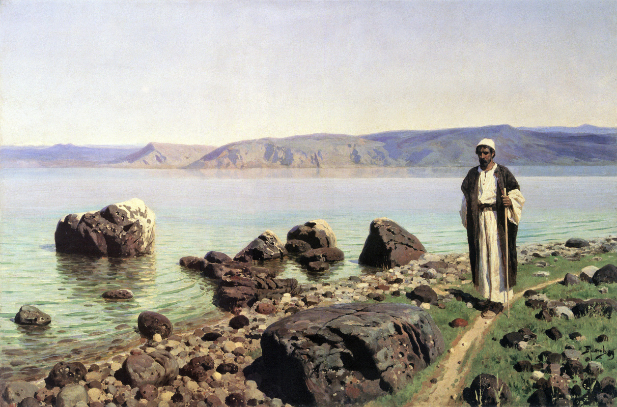 Vasily Dmitrievich Polenov. On the sea of Galilee (Genisaretsky) lake. Later repetition of the same pattern
