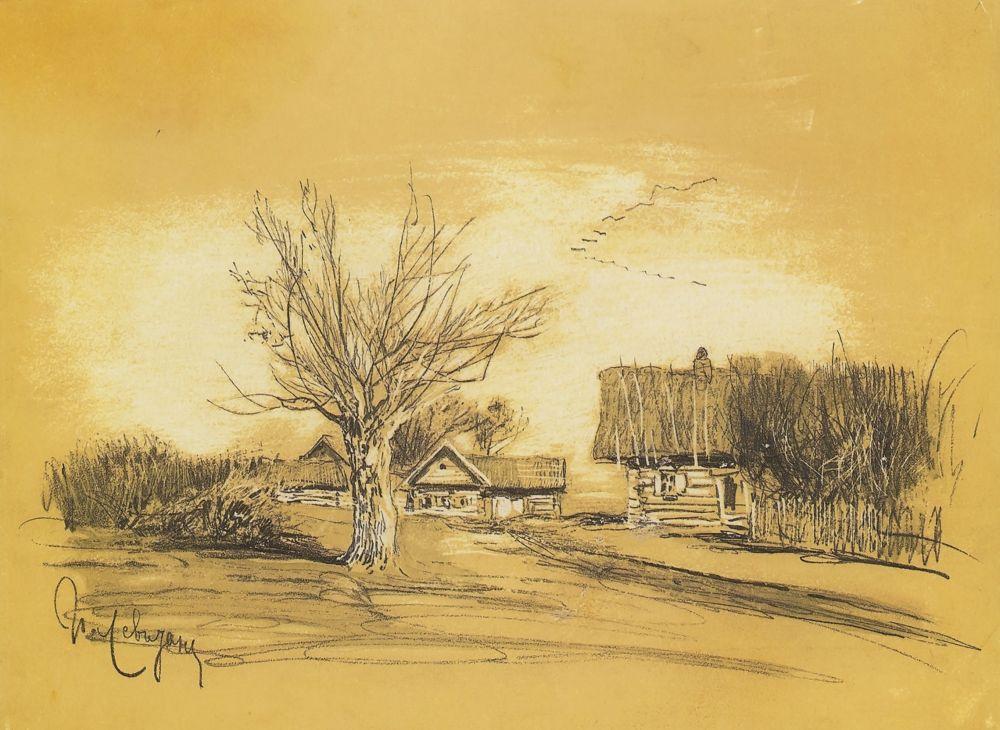 Исаак Ильич Левитан. Весна в деревне (Саввинская слобода под Звенигородом)
