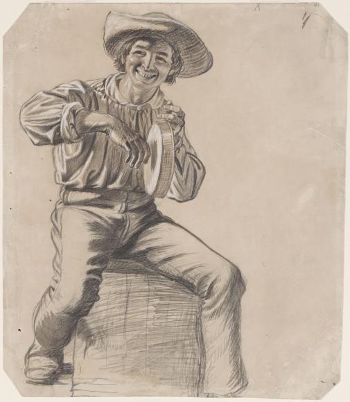 Джордж Калеб Бингем. Рисунок к картине «Весёлые лодочники»