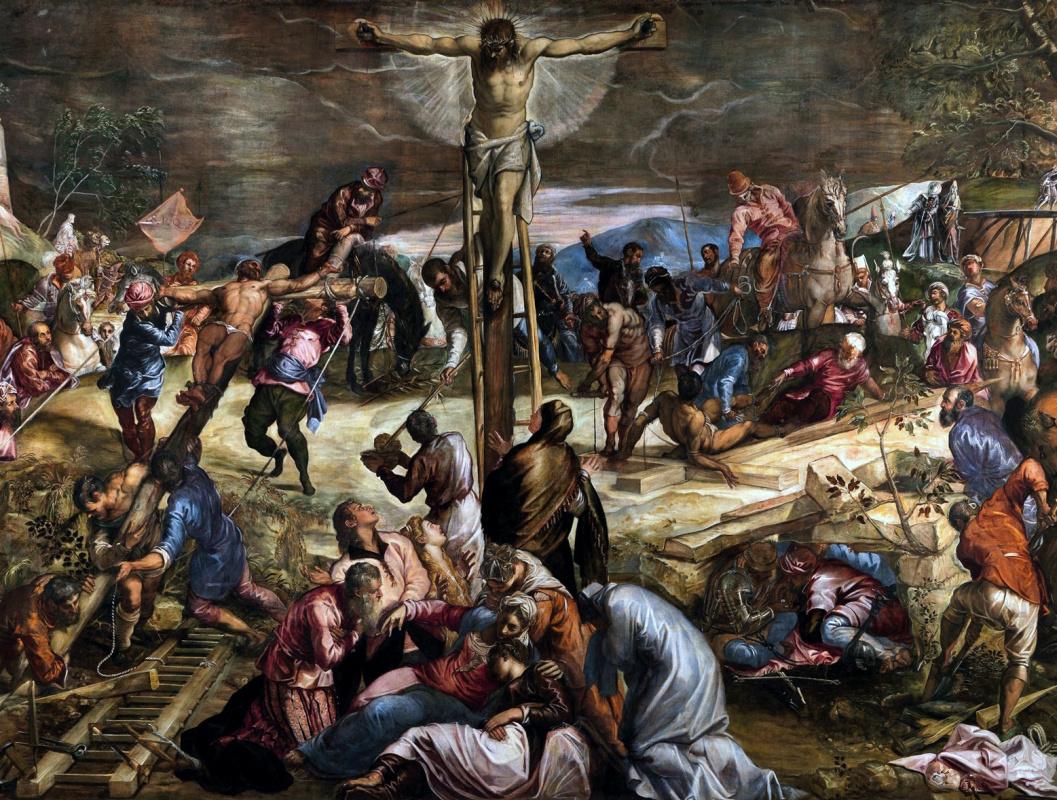 Jacopo (Robusti) Tintoretto. Crucifixion of Christ. Fragment