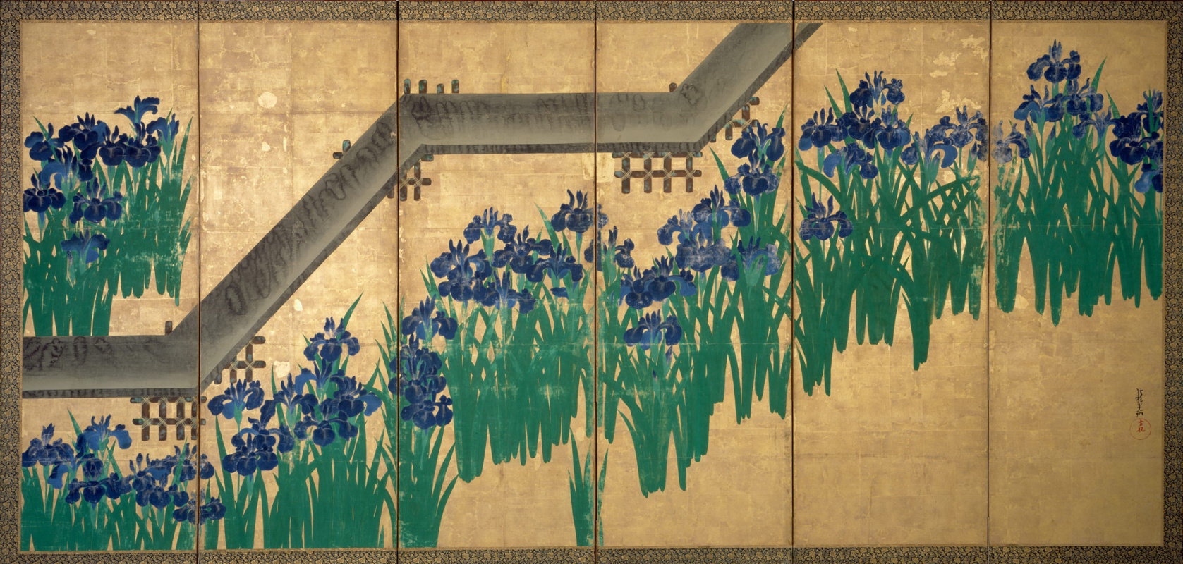 Korin Ogata. Irises