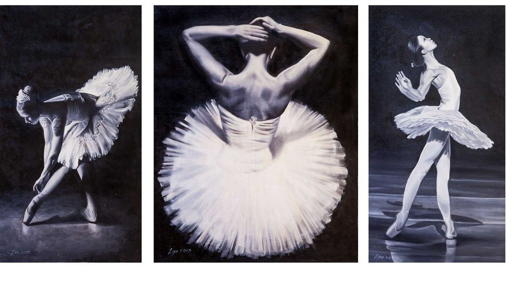 """(no name). """"The Graceful World of Ballet"""" Triptych"""