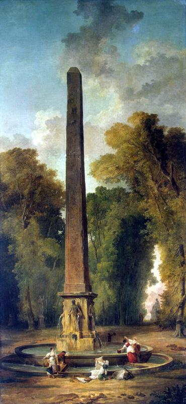 Hubert Robert. Landscape with obelisk